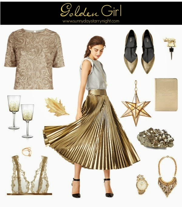 gold fashion and accessories
