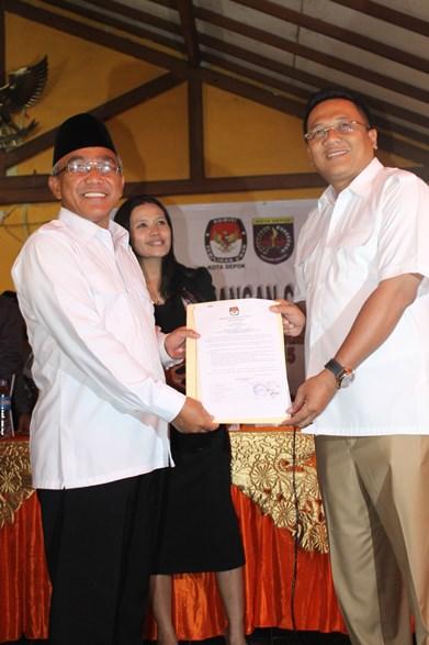 Idris-Pradi Pemenang Pemilihan Walikota dan Wakil Walikota Depok
