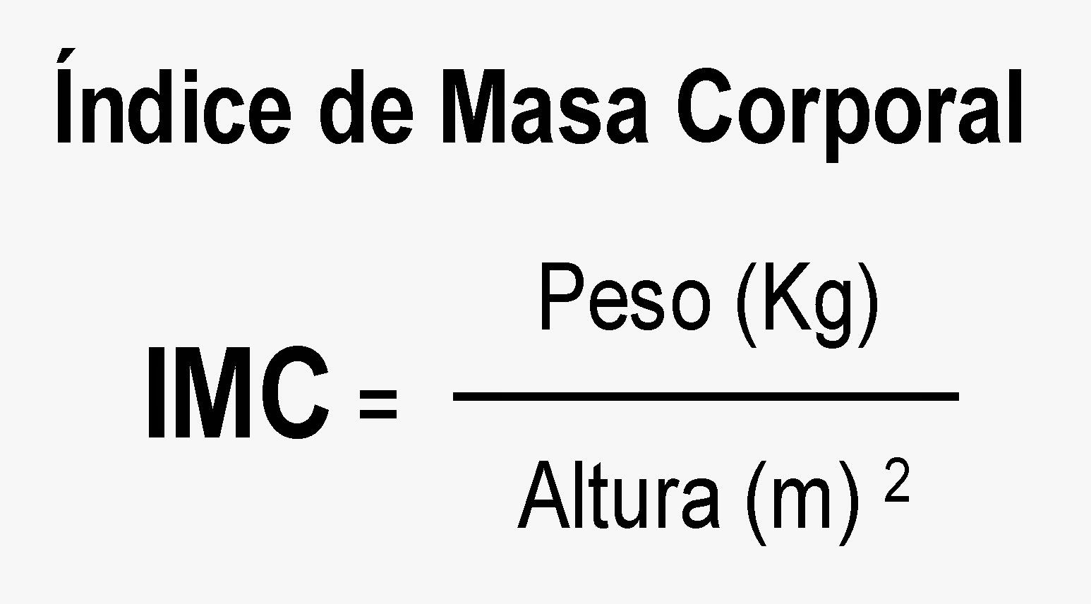 Fórmula del Índice de Masa Corporal - IMC