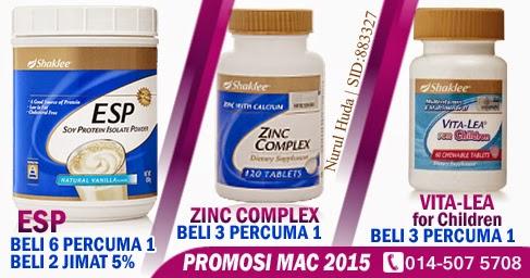 Promosi ESP, Zinc Complex dan Vita-Lea for Children
