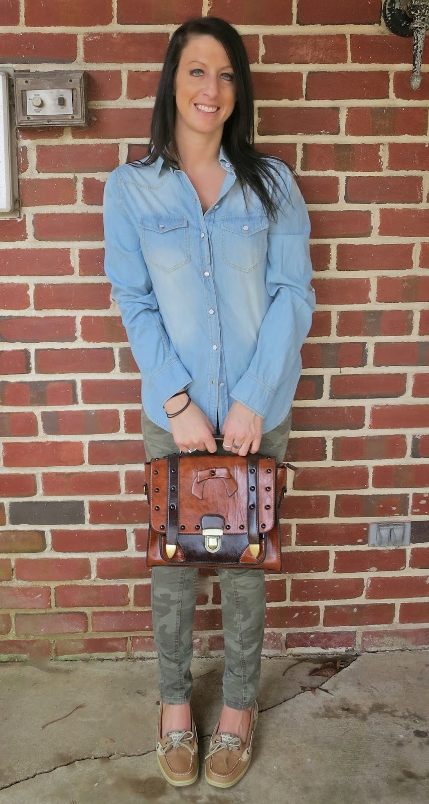 camo, chambray, Chicwish, Fashion, leopard print, ootd, Outfit Ideas, outfit of the day, Outfits, sperrys, urban philosophy,