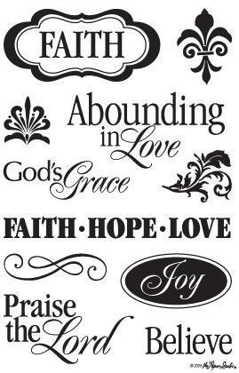 Falth, Hope, Love CS097 Clear Stamps the Paper Studio