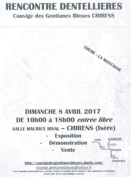 Rencontre dentellières le 8 avril 2017 à Chirens