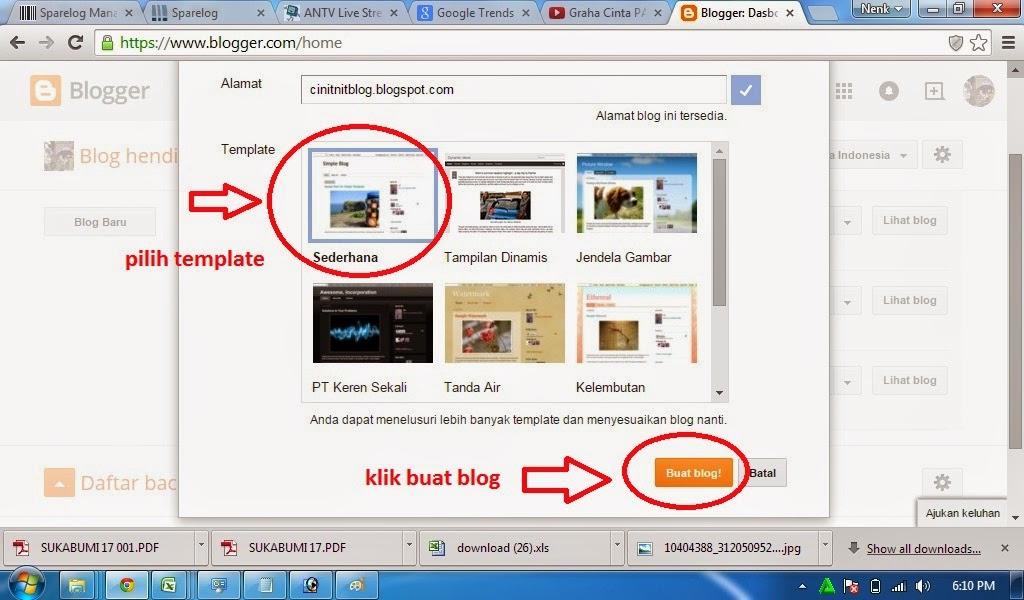 cara menyimpan judul blog