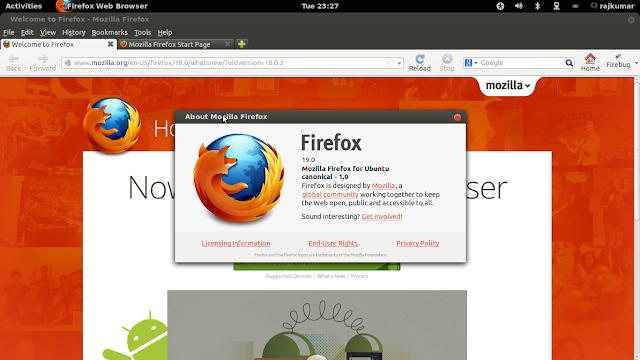 install firefox 19 in ubuntu/Linux Mint