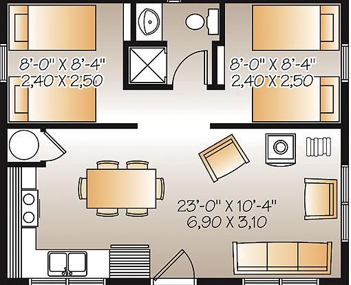 planos casas modernas planos de casas de 50 metros cuadrados