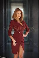 Rochie PrettyGirl Straight Burgundy (PrettyGirl)