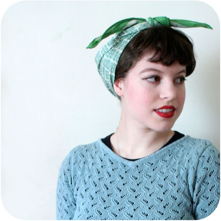 the country farm home s up tie a 1940s headscarf