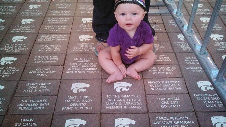 Claire and our K-State Brick