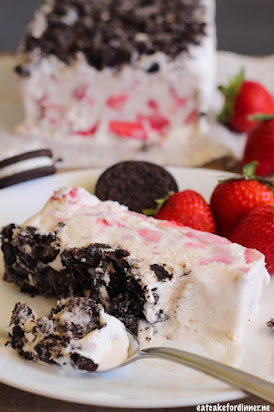 Strawberry OREO Frozen Fruit Dessert