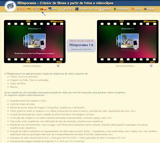 ffDiaporama já inclui o idioma Português.
