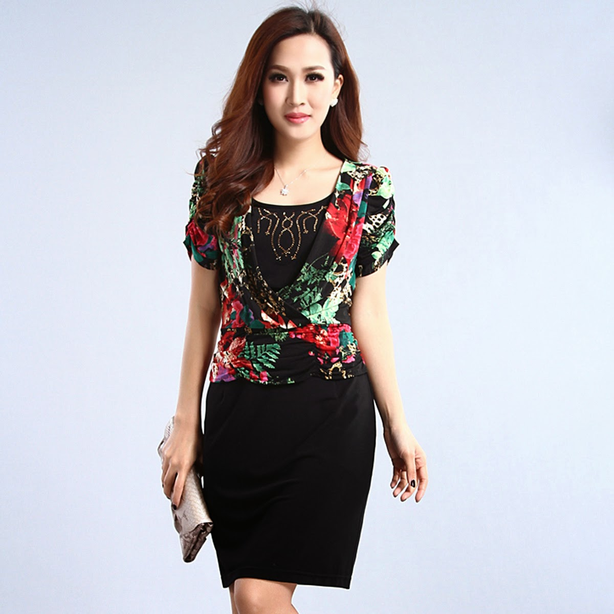 model baju batik wanita dress