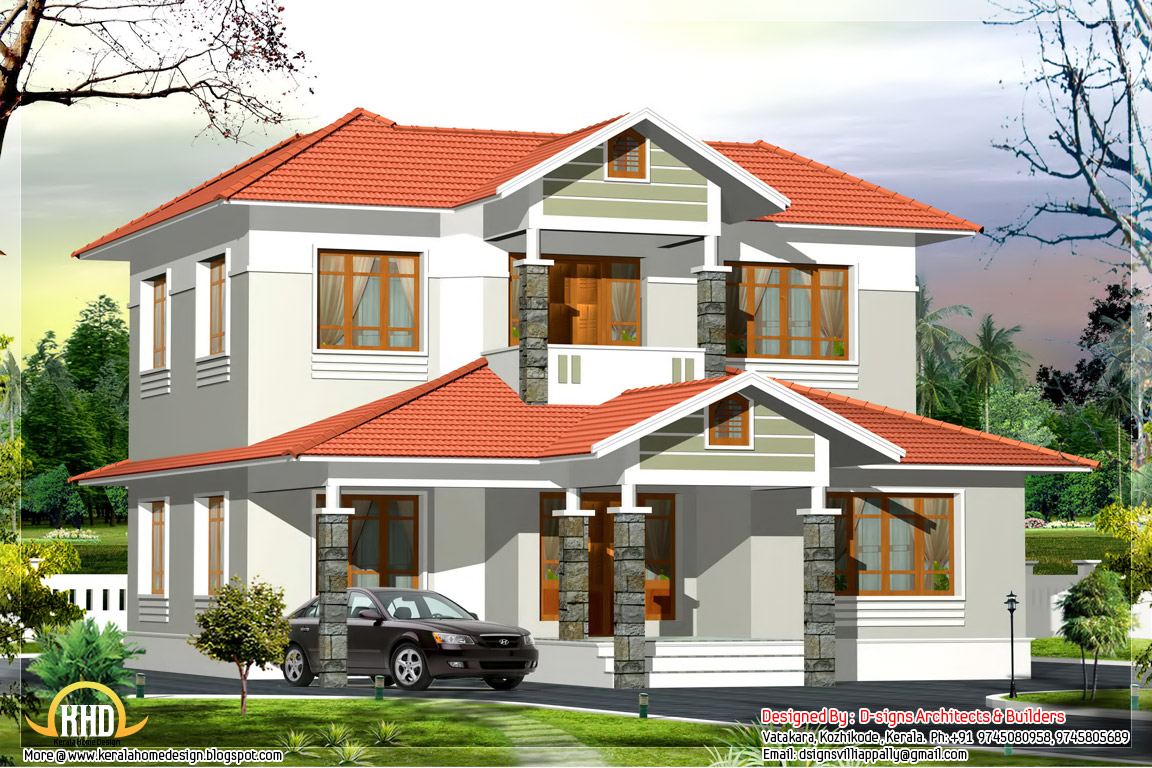 2500 sq ft kerala style home plan kerala home design for Kerala style 2 bedroom house plans