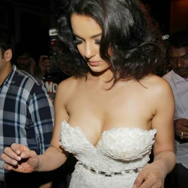 Kangana Ranaut Hot boobs Scene in Rascals HD pics