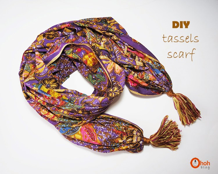 how to finish a scarf with tassels