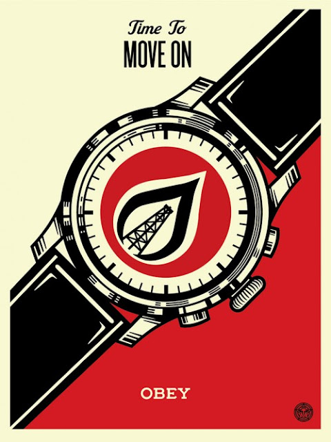 "The always prolific Shepard Fairey is set to release a new edition entitled ""Time To Move On"" next week via Obey Giant."