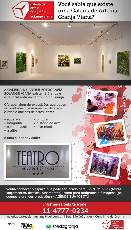 VENHA NOS CONHECER! FAÇA UMA VISITA | AGENDE-SE t 11 4777.0234 galeriadeartesolangeviana@uol.com.br
