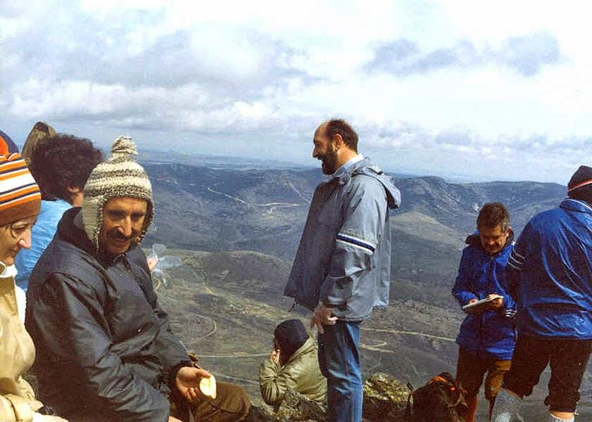 En el pico Ocejón, 1987