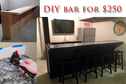 diy basement bar. Build your own bar with faux granite countertop DIY Why Spend More