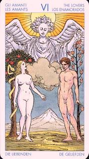 Arcano VI, Los Enamorados. Tarot