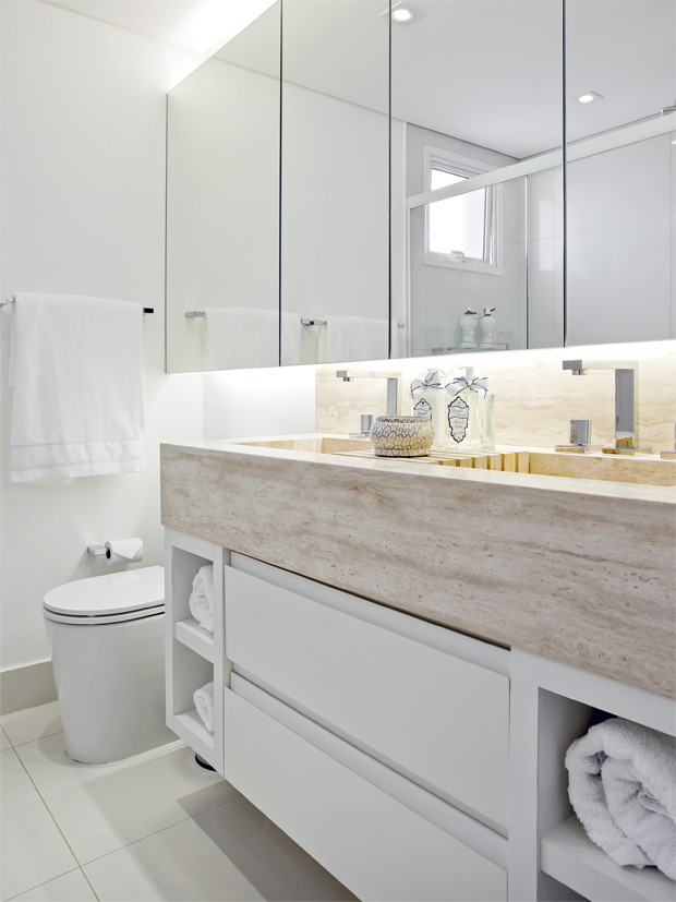 Eu moraria aqui 19 banheiros pequenos  dos mais simples aos rebuscados! -> Ampliar Banheiro Pequeno