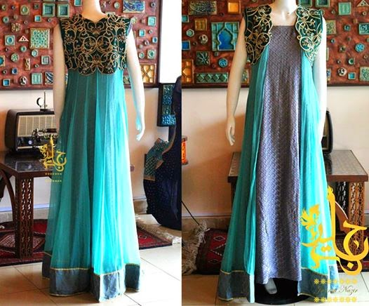 Jannat Nazir Bridal Collection 2014 New Summer Wear Embroidered Frocks For Brides Styles4me