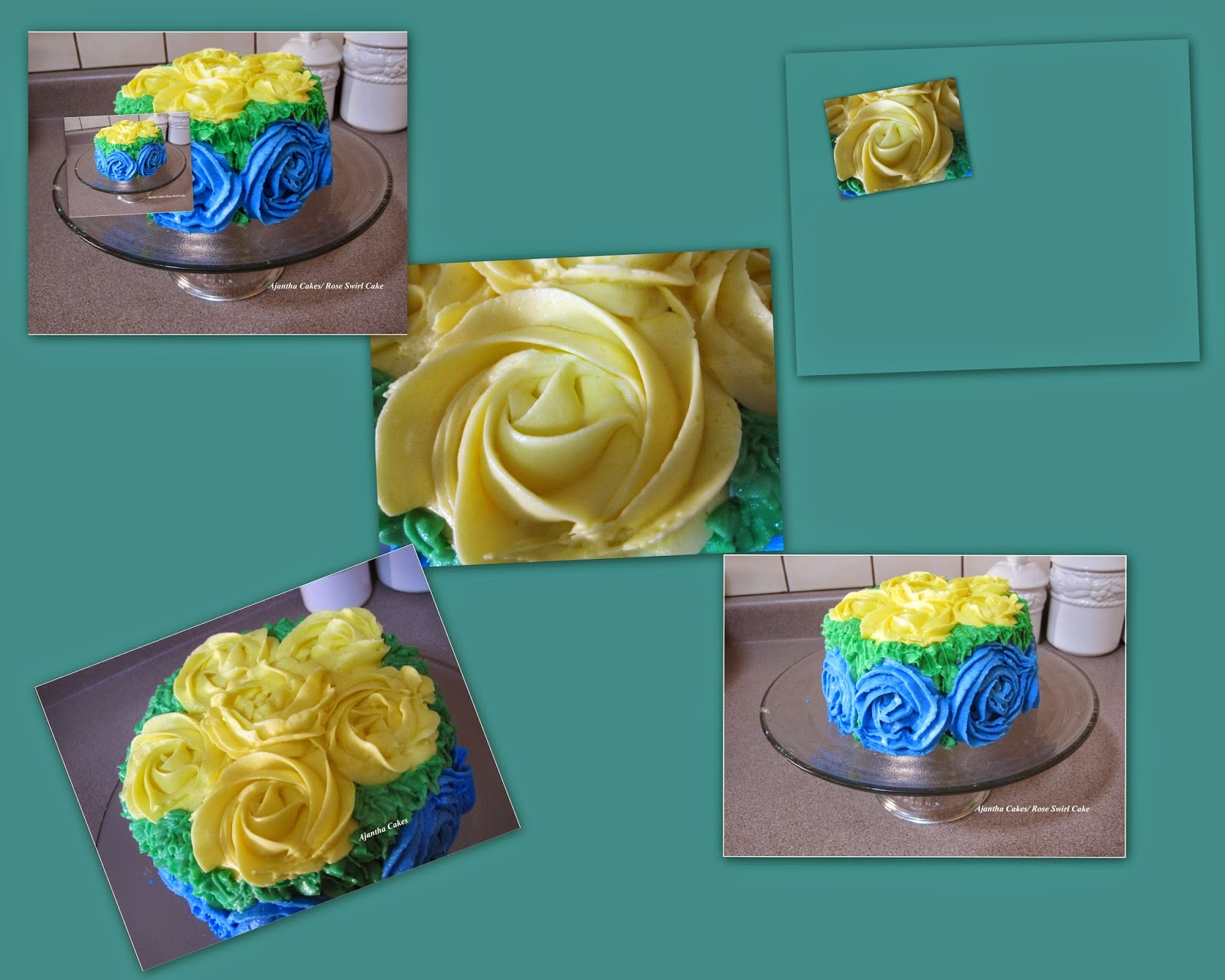 Ajantha Cakes/Rose Swirl Cake