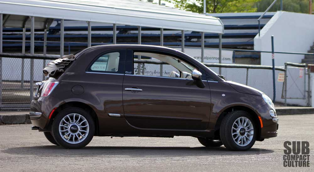 review 2012 fiat 500c lounge it 39 s all about the top. Black Bedroom Furniture Sets. Home Design Ideas