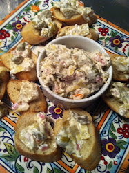 GRILLED ARTICHOKE & GREEN OLIVE CROSTINI