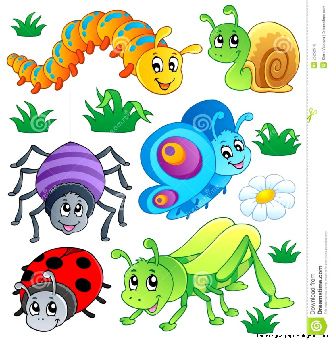 Amazing Clip Art: Cute Insect Clipart
