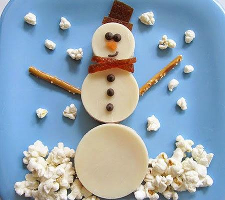 Снежен човек от кашкавал