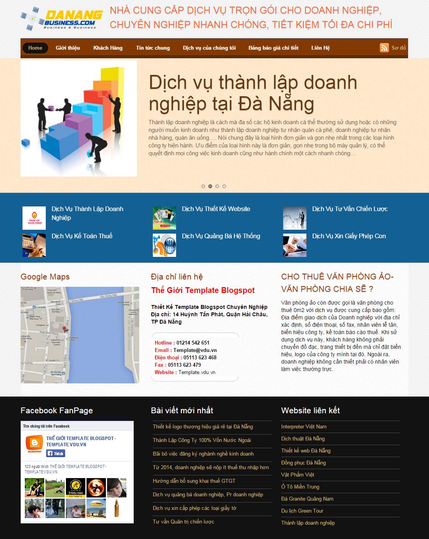 Template Blogspot Giới Thiệu Dịch Vụ Thành Lập Công Ty