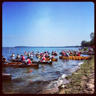 A Canoe Division Takes Off @ The Paddle & Portage