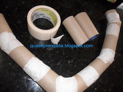 guirlanda de rolo de papel higienico