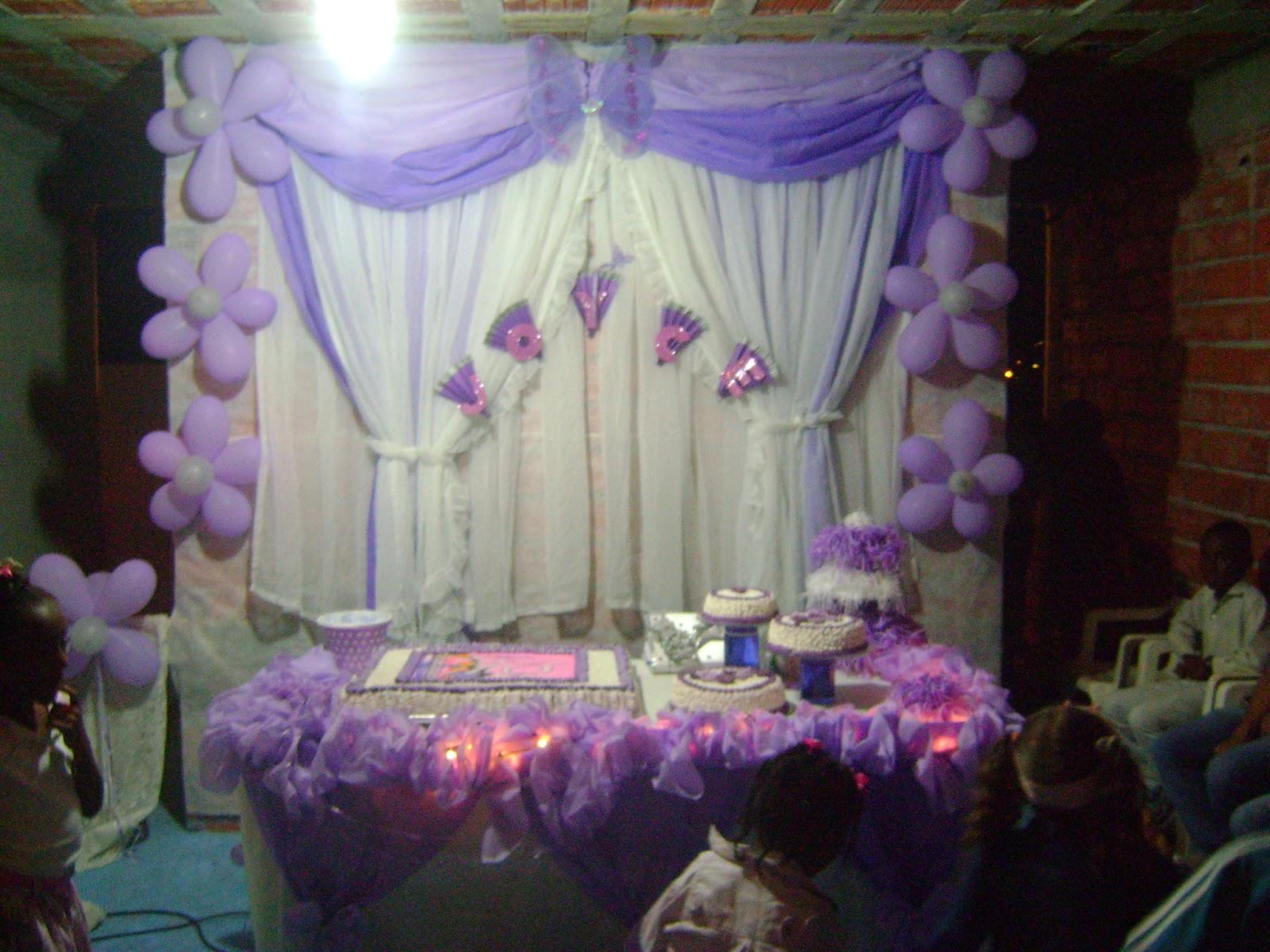 TIA DIDA CRIAN u00c7AS PARA CRISTO faça vc mesma a decoraç u00e3o de aniversario,casamento,etc use a sua  -> Decoração Simples De Aniversário Com Tnt