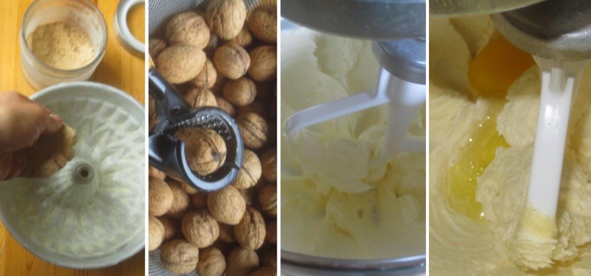 Walnuss-Rührkuchen, Zubereitung Rührteig Schritt für Schritt