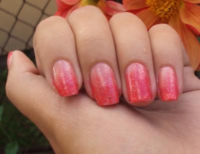 Cieniowane paznokcie :)