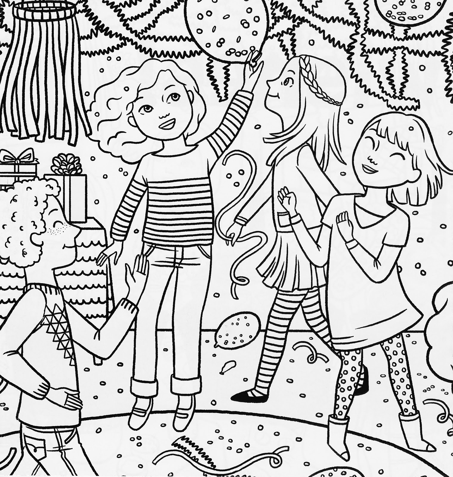 coloring pages party - photo#10