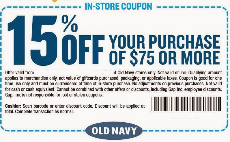 Old navy coupon code feb 2018