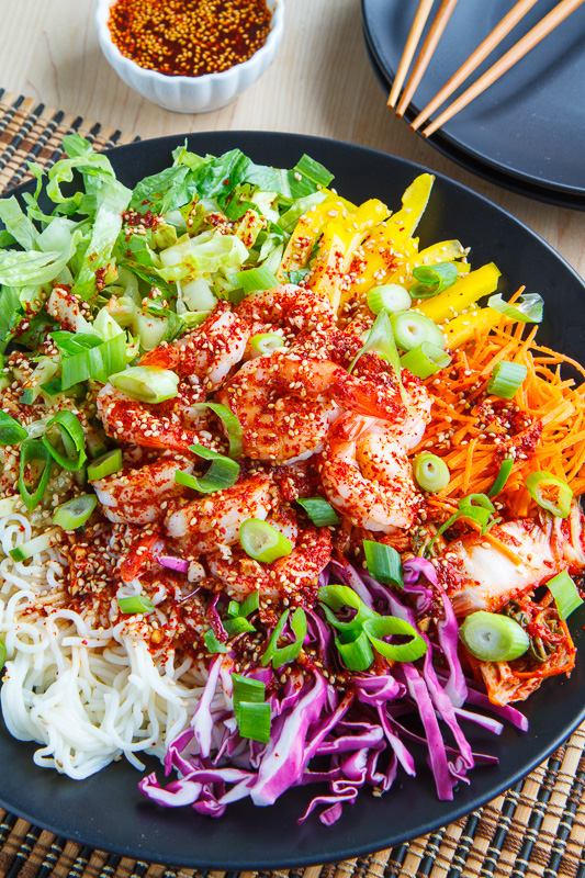 Korean Style Cold Tofu Shirataki Noodle Salad with Shrimp ...