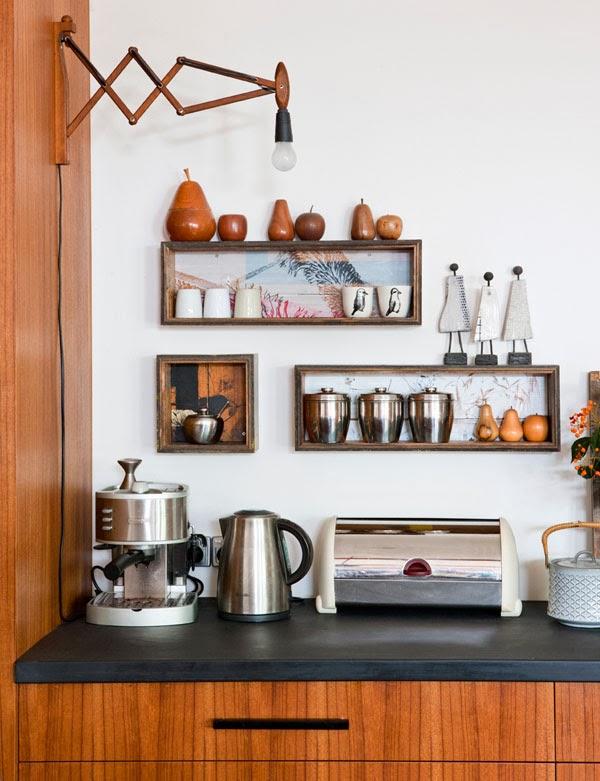 decoracao cozinha nichos : decoracao cozinha nichos:Estes não são nichos, são prateleiras, mas gostei também