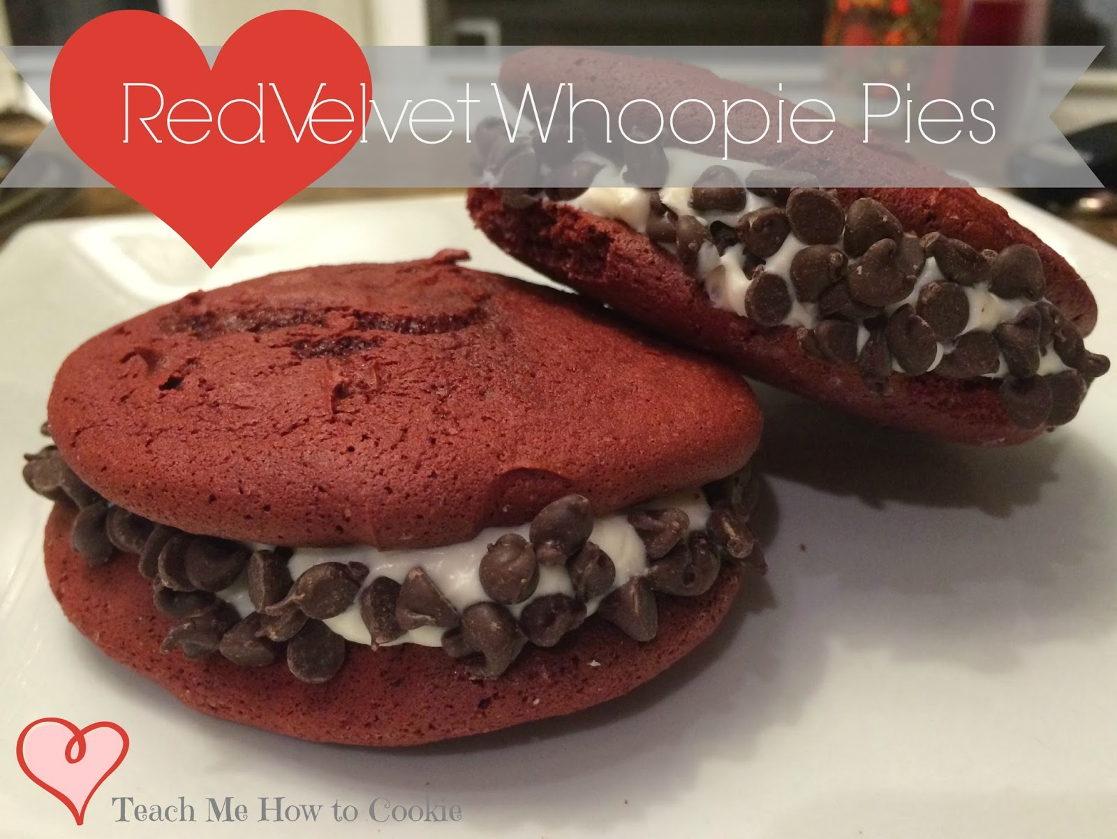 Red Velvet Whoopie Pie with Chocolate Chip Recipe