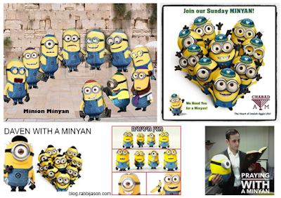minions minyan - jewish group of minions for prayer