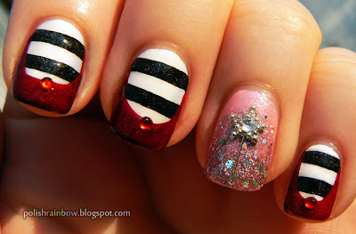 Halloween Nail Art Challenge Witches. Glinda and Wicked Witch of the East Wizard of Oz nails.