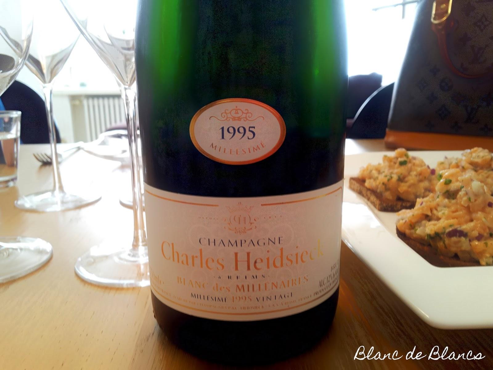 Charles Heidsieck Blanc de Millenaires 1995 samppanja