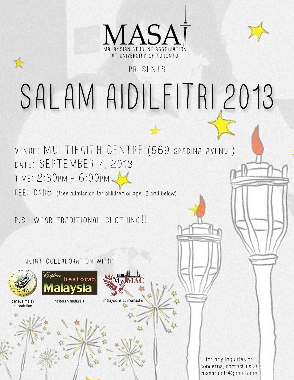 Invitation for EidulFitr Celebration MASAT