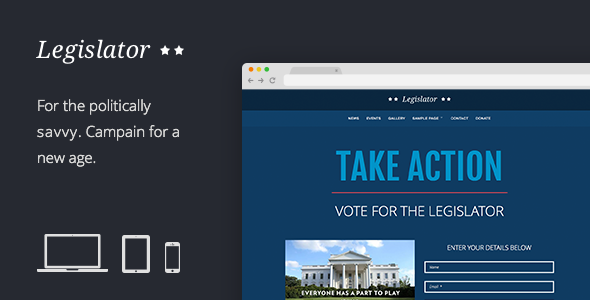 Politician website theme