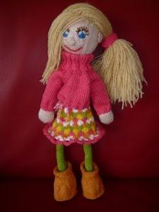 Katrein, mijn eerste gebreide pop