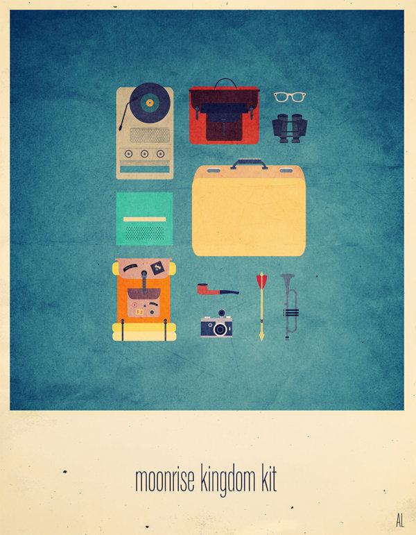 Ilustración © Alizée Lafon | Moonrise Kingdom (Wes Anderson, 2012) | Banda Sonora Original