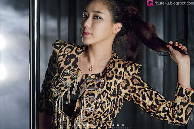 3 Kim Ha Yul - Leopard Girl-very cute asian girl-girlcute4u.blogspot.com